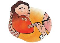 آیا ریش و سبیل باعث بالابردن دمای بدن مردان می شود؟