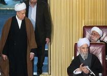 لحظه ورود هاشمی رفسنجانی و دکتر حسن روحانی به مجلس خبرگان+فیلم